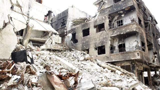 Zusammengeschossen: Das Palästinenserlager Jarmuk bei Damaskus