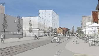 Wird das Gewerbegebiet verdichtet, fordert die Gemeinde ein Tram auf der Binningerstrasse.