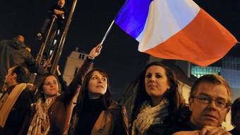 Hollande-Anhänger feiern Anfang Mai den Wahlsieg ihres Kandidaten (Archiv)
