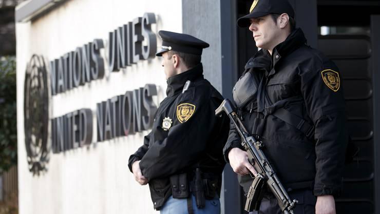 Die Sicherheitsmassnahmen vor dem Uno-Gebäude wurden verschärft.