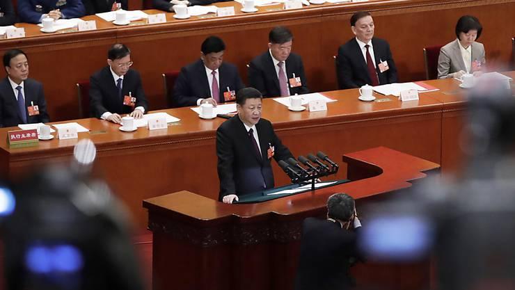Nur der Sozialismus gut für das Land: Der Präsident Chinas Xi Jinping beendete den Volkskongress in China mit einer Kampfrede.