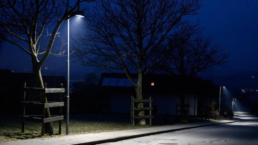 Das Energiesparpotenzial ist in der Schweiz riesig, ist man sich in Bundesbern einig - gerade auch dank neuer Technologien. Im Bild eine LED-Strassenlampe (Symbolbild).