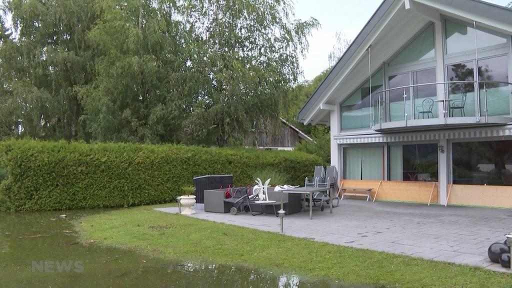 Garten überschwemmt: Hochwassersituation am Bielersee verschärft sich