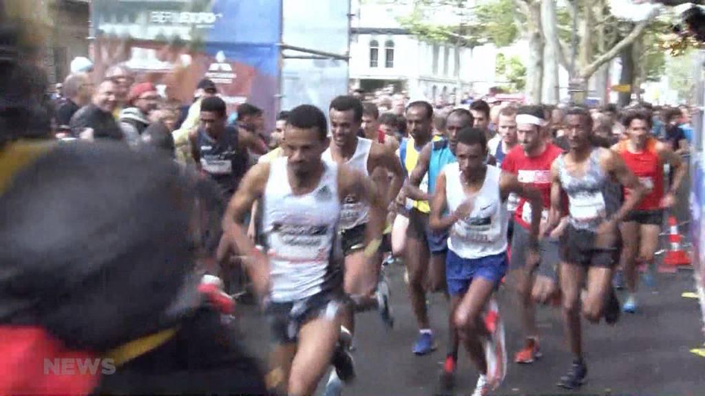 Trotz Regen und Wind, bestritten die Läufer den Grand Prix erfolgreich