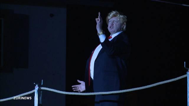 Grosser Auftritt von Trump an Fasnachtsspiel in Schwyz