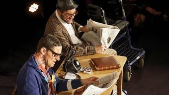 Das Theaterkabarett-Duo Strohmann-Kauz mit Matthias Kunz (vorne) und Rhaban Straumann trat 2016 bei der letzten Sternschnuppe am 23. Dezember auf.