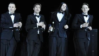 Klaus Brömmelmeier, Denis Geyersbach, Milian Zerzawy, Patrick Güldenberg (von links).