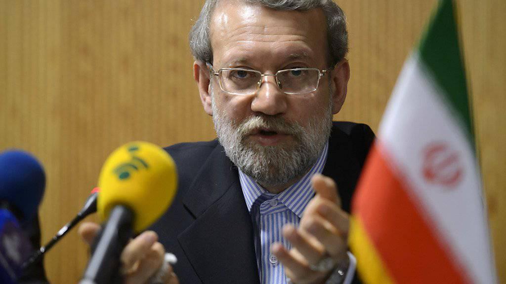Hat kein Gehör für die kritischen Worte von Sigmar Gabriel: Der iranische Parlamentspräsident Ali Laridschani hat den deutschen Wirtschaftsminister kurzfristig ausgebootet. (Archiv)