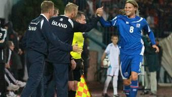 Birkir Bjarnason ist endlich angekommen.