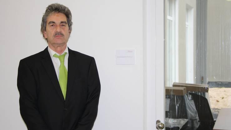 Rudolf Erzer, Initiatnt der Seniorenakademie, verfügt im Neubau der Tertianum AG schon bald über ein eigenes Büro