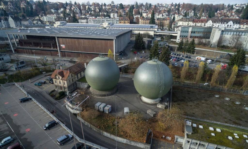 Erdgaskugelspeicher in St.Gallen (© zVg)
