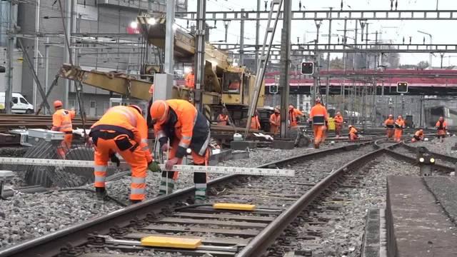 Umfassende Gleiserneuerung im Bahnhof Luzern