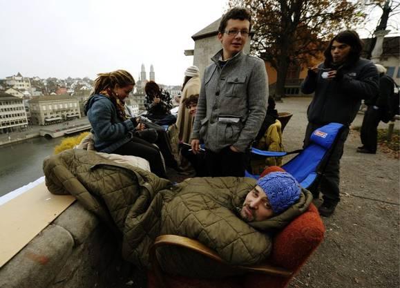 Die Aktivisten auf dem Lindenhof packen zusammen