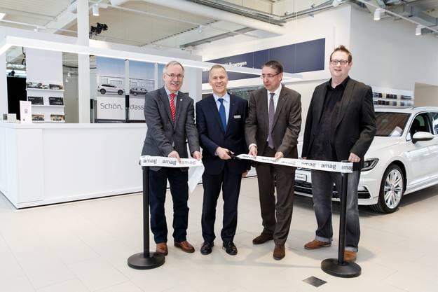 v.l: Stefan Hug, Andreas Iseli, Jost Eggenberger, Benno Probst
