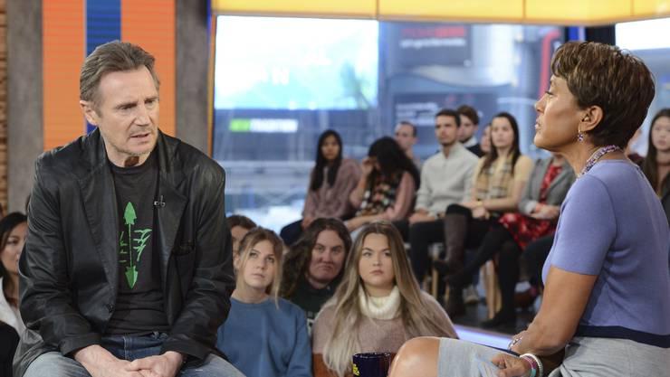 Der Schauspieler Liam Neeson entschuldigt sich im US-Frühstücksfernsehen «Good Morning America» des Senders ABC.
