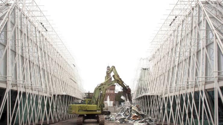 Nach dem vollständigen Rückbau des Expo-Geländes soll schon bald wieder der Beton angerührt werden. Geplant ist ein neues Wissenschafts- und Forschungszentrum.
