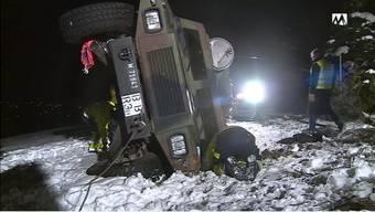 Das Militärfahrzeug des Typs Eagle verunfallte.