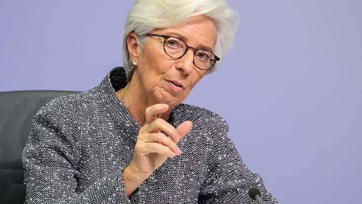 Die Chefin der EZB, Christine Lagarde, ermahnt die europäischen Regierungen, mehr Solidarität zu zeigen. (Archivbild)