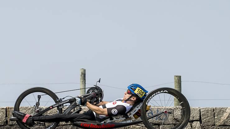 Tobias Fankhauser gewinnt bei den Paralympics in Rio Bronze im Handbike-Strassenrennen über 45 km