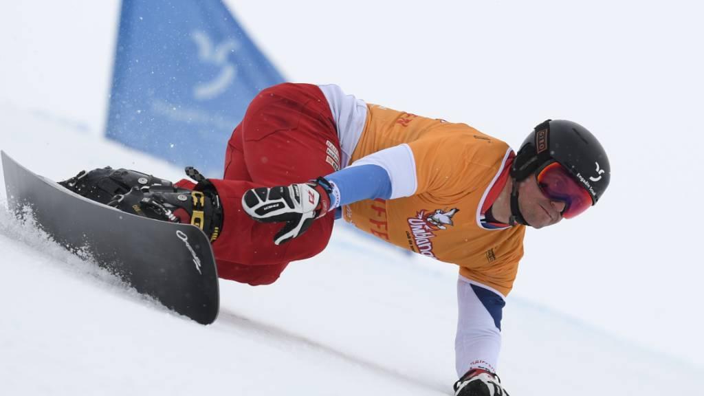 Endlich wieder wettkampfmässig im Schnee unterwegs: Nach 22 Monaten Wettkampfpause kehrt Olympiasieger Nevin Galmarini zurück