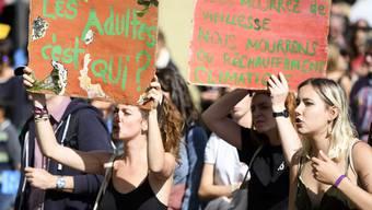 Wie das Schweizer Fernsehen SRF ausgerechnet hat, gab es seit Anfang Jahr 170 Klimastreiks in 60 Orten. Im Bild: Klimademo in Bern.