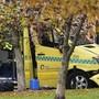 Konnte von der Polizei in Oslo noch gestoppt werden: der gekaperte Krankenwagen.