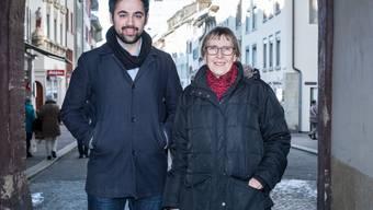 Gleiche Partei, andere Generation, unterschiedlicher Stil: Adil Koller und Hanni Huggel im Liestaler Stedtli.
