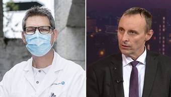 Chefarzt Christoph Fux (links) kritisiert Grossratspräsident Pascal Furer für seine Aussagen im «Talk täglich».