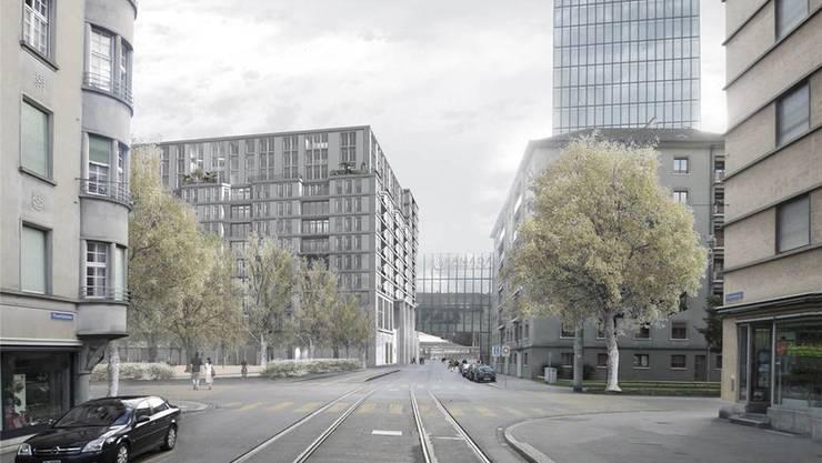 «Park-Haus»: Kompakter Block mit Wohnen als Mantelnutzung des Parkings. Veronika Neurohr, TU Kaiserslautern