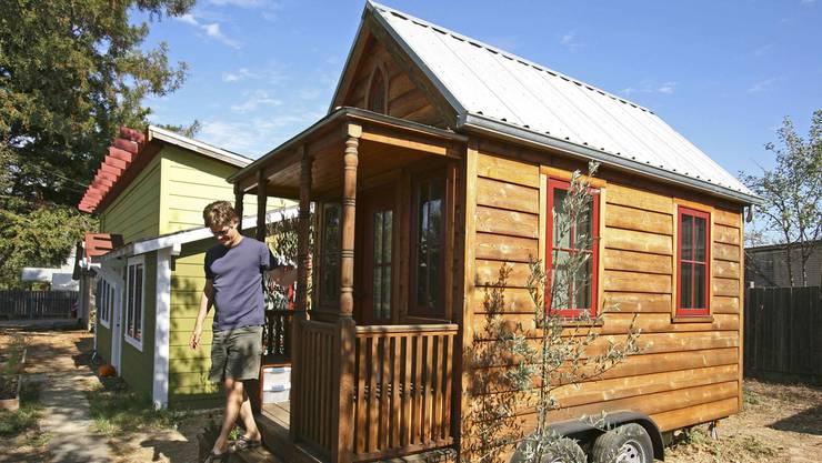 An der Holz Basel wird ein Tiny House vor Ort und vor Puplikum gebaut. (Symbolbild)