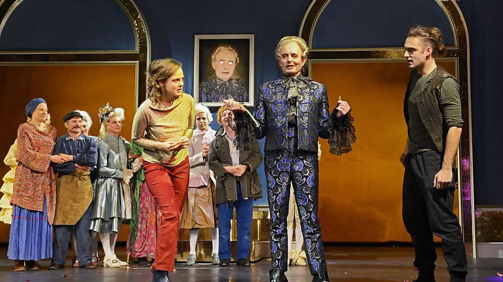 «Der Teufel mit den drei goldenen Haaren» nach einem Märchen der Brüder Grimm mit Live-Musik von Schtärneföifi, in einer Bearbeitung von Meret Matter und Stefanie Grob. Premiere war am 12. November 2016 am Schauspielhaus Zürich.