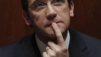Das portugiesische Parlament sprach ihm das Vertrauen aus: Ministerpräsident Pedro Passos Coelho während der Abstimmung