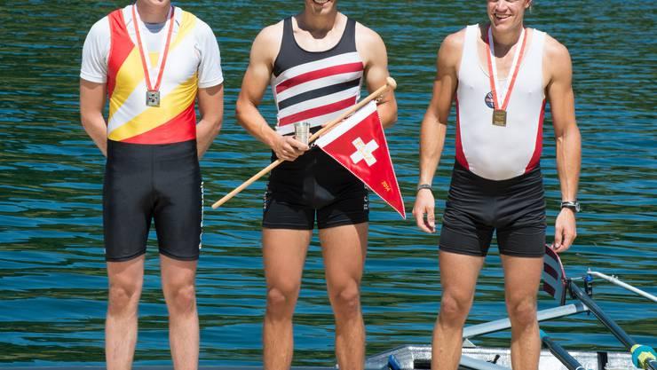 Gold für Daniel Wiederkehr (Mitte)