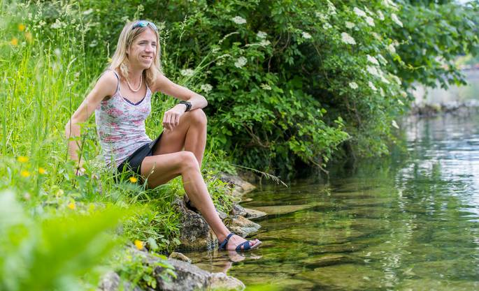 Martina Strähl im Frühling vor einem Jahr
