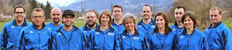 Das OK des Toggenburger Turnfests. Der Präsident Walter Schlegel steht in der Mitte. (Bild: zVg)