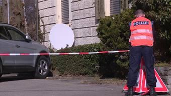Die Polizei war mit einem Grossaufgebot an der Bahnhofstrasse vor Ort. (Archiv)
