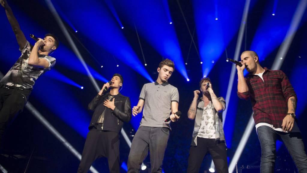 ARCHIV - Die britische Boygroup The Wanted tritt im Palacio de los Deportes auf. The Wanted will erstmals seit ihrer Trennung im Jahr 2014 wieder gemeinsam auf der Bühne stehen. Foto: Fernando Aceves/EFE/OCESA/dpa