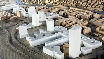 Modellbau des neuen Hardturmareals
