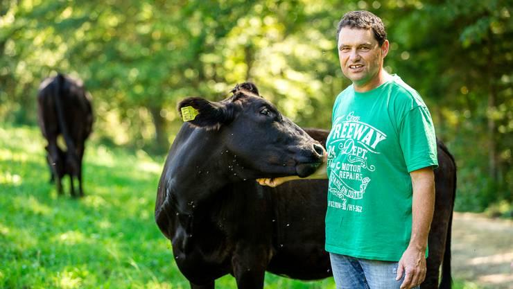 Hans Rudolf Zimmermann hat sich einen Namen gemacht als Züchter von edlen Wagyu-Rindern. (Archiv)