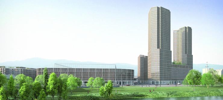 Das Stadion von 2013 und drei Hochhäuser machten «Portal Hardturm» aus.