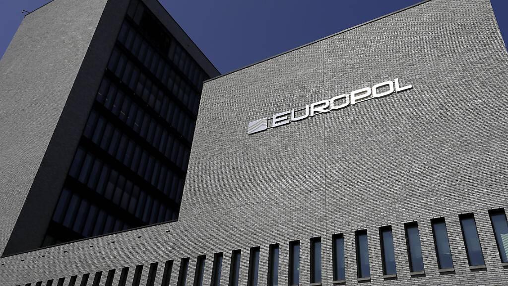 ARCHIV - Das Hauptquartier der Europäischen Polizeibehörde Europol in Den Haag. Foto: Nicolas Maeterlinck/BELGA/dpa