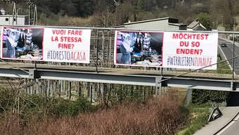 Drastische Bilder zur Begrüssung: So will Fiorenzo Dadò Deutschschweizer Touristen für die Coronaregeln sensibilisieren.
