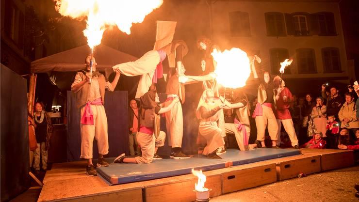 Die Feuershow zählte zu den Highlights des Fläckefäschts.