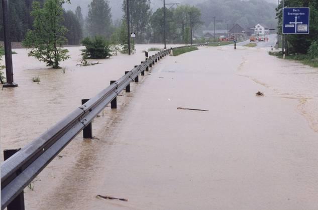 07_Und auch die Bremgartnerstrasse beim Reppischhof blieb von der Flut nicht verschont