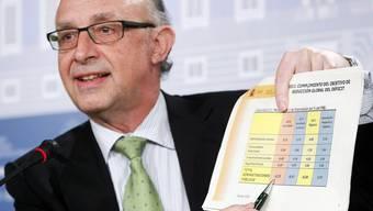 Finanzminister Cristobal Montoro zur Neuverschuldung