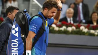 Stan Wawrinka verabschiedet sich auch in Rom früh aus dem Turnier