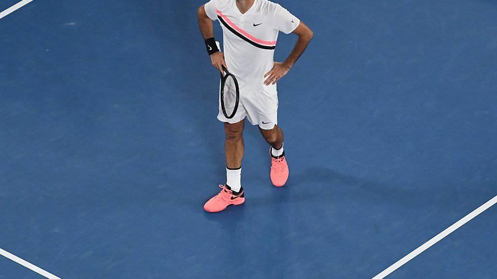 Roger Federer wird im ATP-Turnier von Rotterdam wieder auf dem Platz stehen.