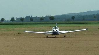 Flugzeugnotlandung Birrfeld