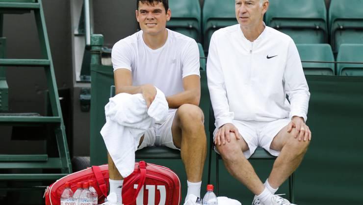 Beenden die Zusammenarbeit: Milos Raonic (links) und John McEnroe