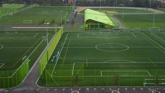 Einer der Kunstrasenplätze: Sportanlage Heerenschürli. (Archiv)